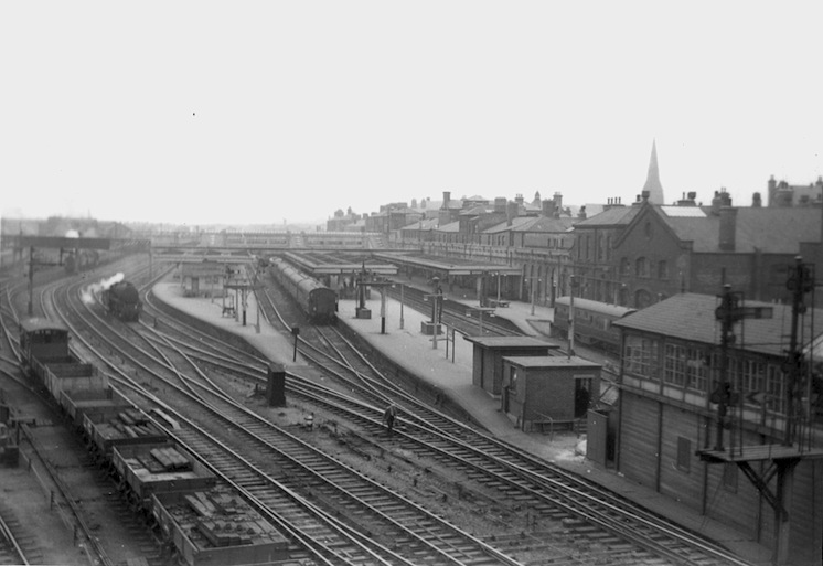 Derby Station North Jc. photographed by Pat Larkam on 26th June 1964.